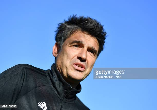 Massimo Busacca, FIFA head of Refereering looks on during training session of Video Assistant Referees on June 15, 2017 in St. Petersburg, Russia.