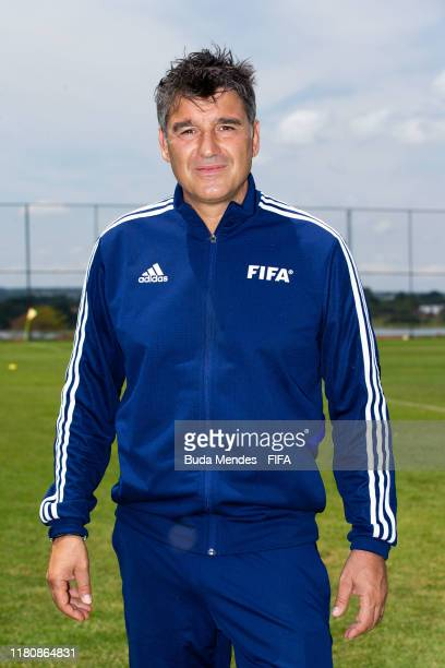 Massimo Busacca, Fifa's head of refereeing, pose for photo during the training session ahead of the FIFA U-17 Men's World Cup Brazil 2019 at...