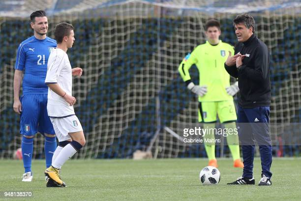 Massimo Busacca head of the FIFA arbitration department during the FIFA Referee Seminar Media Day at Coverciano on April 18 2018 in Florence Italy