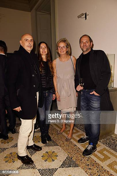 Massimo Castagna Isabella Genovese Inga Griese and Paolo Tormena attend the ICON 10 anniversary cocktail canapes party at Palazzo Cagnola on November...