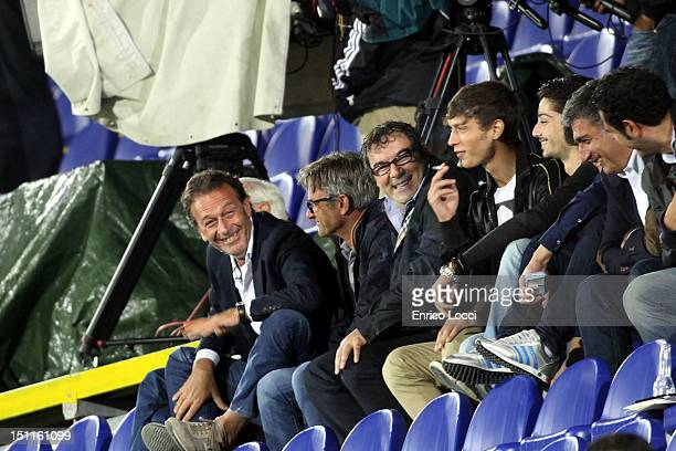 Massimo Celliino president of Cagliari during the Serie A match between Cagliari Calcio v Atalanta BC at Stadio Sant'Elia on September 2 2012 in...
