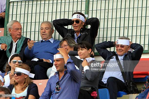 Massimo Cellino during the Serie A match between Cagliari Calcio and AC Siena at Stadio Sant'Elia on October 16, 2011 in Cagliari, Italy.