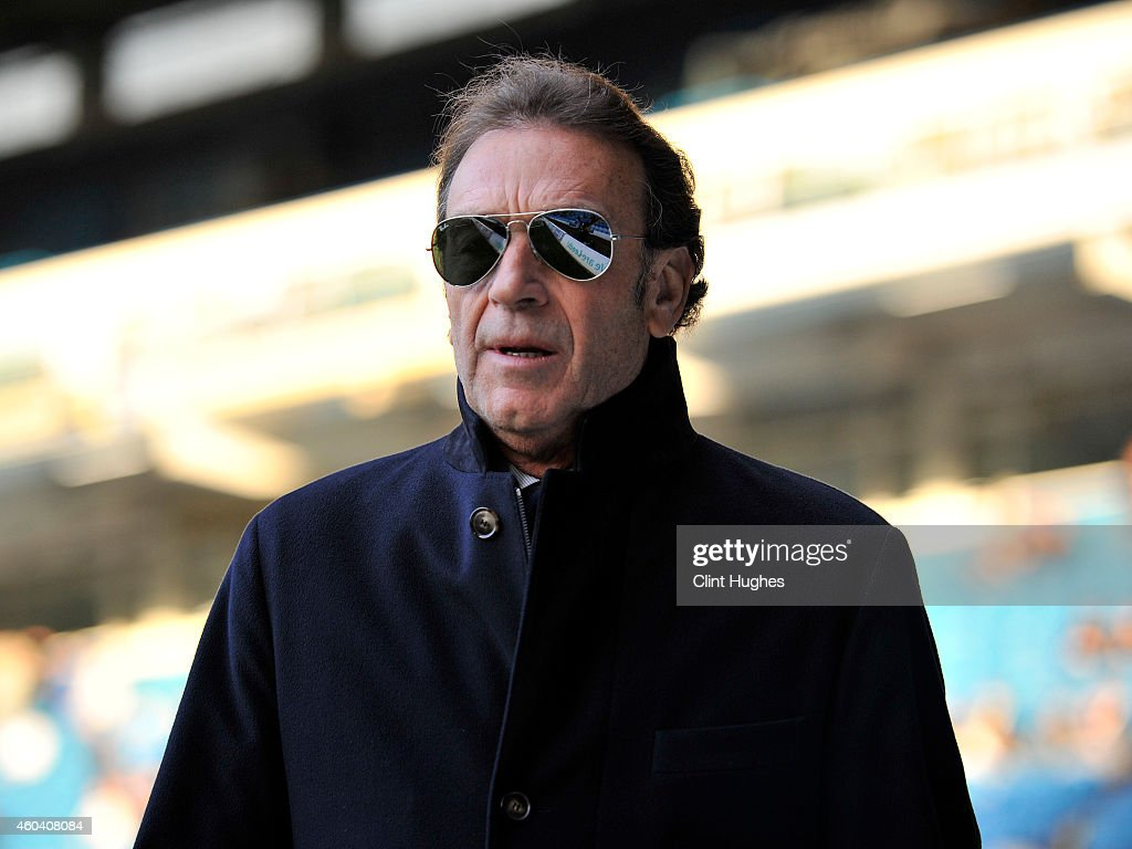 Massimo Cellino President and Director of Leeds United during the Sky Bet Championship match between Leeds United and Fulham at Elland Road on December 13, 2014 in Leeds, England.