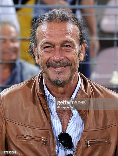 Massimo Cellino President of Cagliari looks on before the Serie A match between Cagliari Calcio and Atalanta BC at Stadio Nereo Rocco on August 25,...