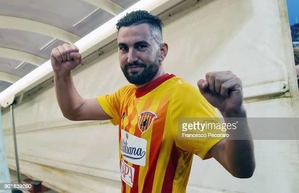 Massimo Coda player of Benevento Calcio celebrates the victory after the serie A match between Benevento Calcio and UC Sampdoria at Stadio Ciro...