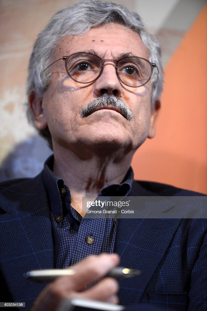 Massimo D'Alema Attends An Event Organised By 'Alternative' : Nieuwsfoto's