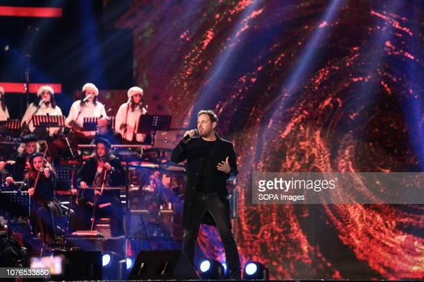 MATERA ITALY MATERA MT ITALY Massimo Di Cataldo seen performing during Rai1's New Year's television program L'anno che verrà in Matera