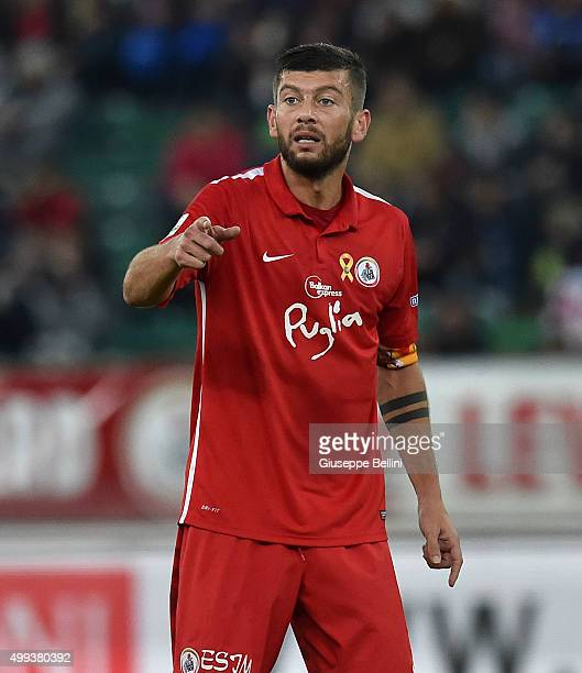 Massimo Donati of AS Bari in action during a tornemnt between FC Internazionale AC Milan and AS Bari at Stadio San Nicola on November 24 2015 in Bari...