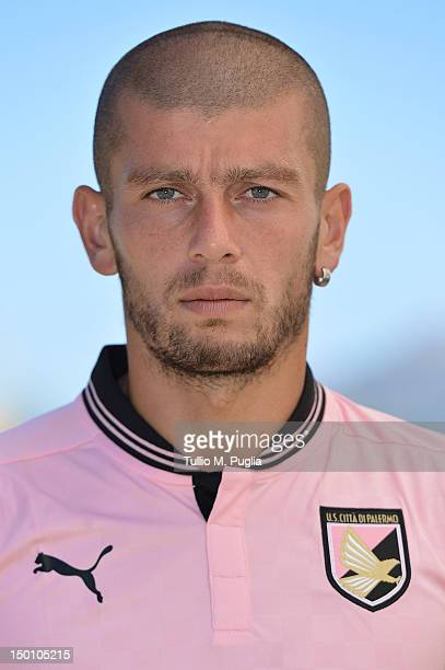 Massimo Donati of US Citta di Palermo poses during a portrait session for the team's official headshots at Campo Tenente Onorato on August 10 2012 in...
