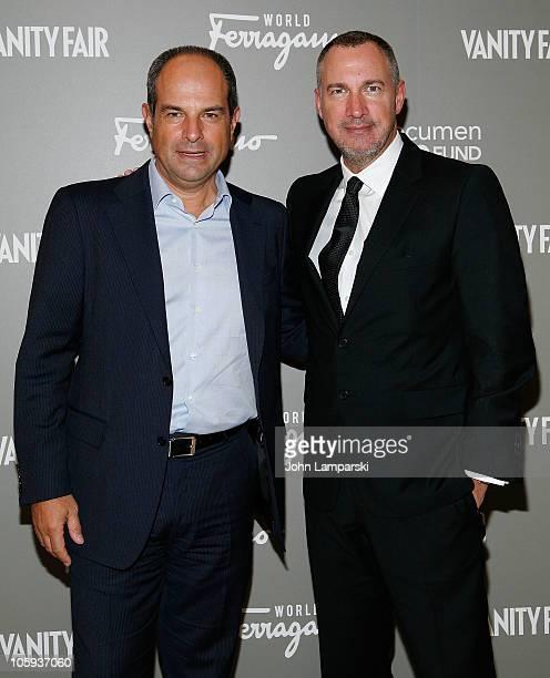 Massimo Ferragamo and Edward Manicheschi attend the Ferragamo WORLD launch party at Salvatore Ferragamo on October 21, 2010 in New York City.