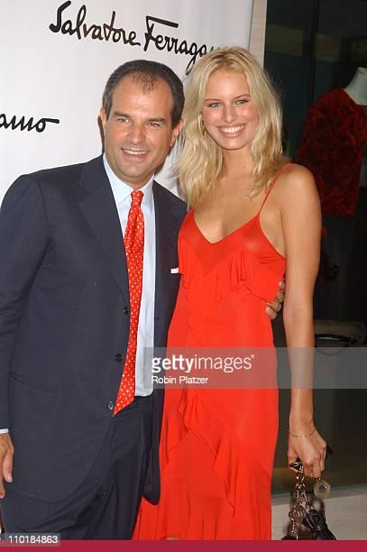 Massimo Ferragamo and Karolina Kurkova during Salvatore Ferragamo NYC Flagship Store Opening at Salvatore Ferragamo NYC Store in New York City, New...