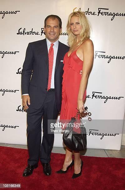 Massimo Ferragamo and Karolina Kurkova during Salvatore Ferragamo Flagship Store Opening and Art Exhibition in New York City at Salvatore Ferragamo,...
