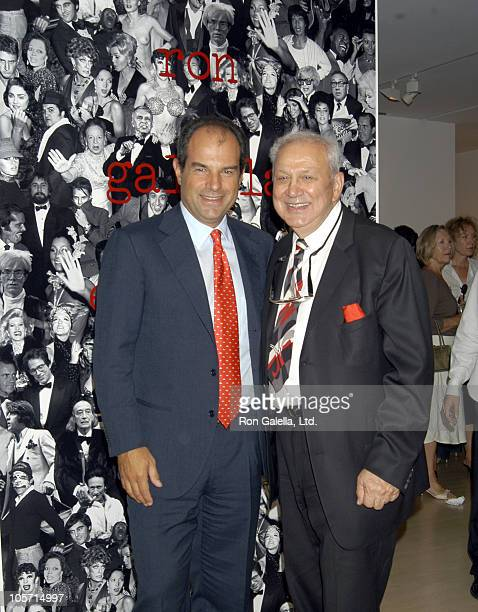 "Massimo Ferragamo and Ron Galella during Opening of Ron Galella's ""Exclusive Diary: Caught Off-Guard"" Exhibit at Salvatore Ferragamo Gallery in New..."