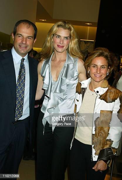 Massimo Ferragamo, Brooke Shields and Chiara Ferragamo