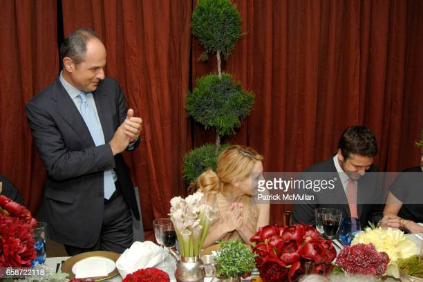 Massimo Ferragamo, Celerie Kemble Curry and Gerard Butler attend SALVATORE FERRAGAMO Intimate Dinner hosted by MASSIMO FERRAGAMO at Salvatore...