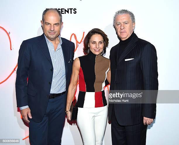 Massimo Ferragamo, Chiara Ferragamo and Luciano Bertinelli attend Ferragamo Presents: Gancio Studios, Celebrating 100 Years In Hollywood at Gancio...