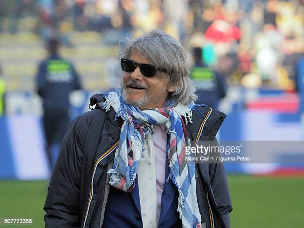 Massimo Ferrero President of UC Sampdoria attends during the Serie A match between Bologna FC and UC Sampdoria at Stadio Renato Dall'Ara on January...