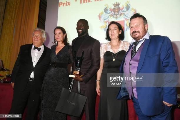 Massimo Gargia a guest Best 2019 award winning runner Ladji Doucouré Tania de Bourbon Parme and Henry Jean Servat attend the 43rd Best Awards Edition...