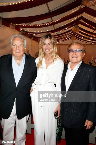Massimo Gargia Actress Sveva Alviti and Orlando attend 'La Femme dans le Siecle Waman in the Century' Dinner at Jardin des Tuileries on July 5 2018...