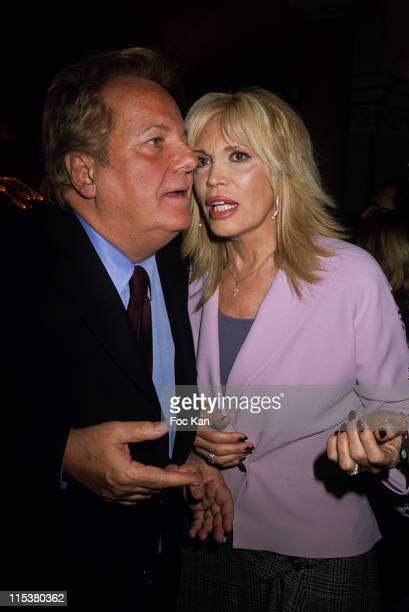 Massimo Gargia Amanda Lear during Massimo Gargia Saint Valentin Awards Party at Hotel Royal Monceau in Paris France