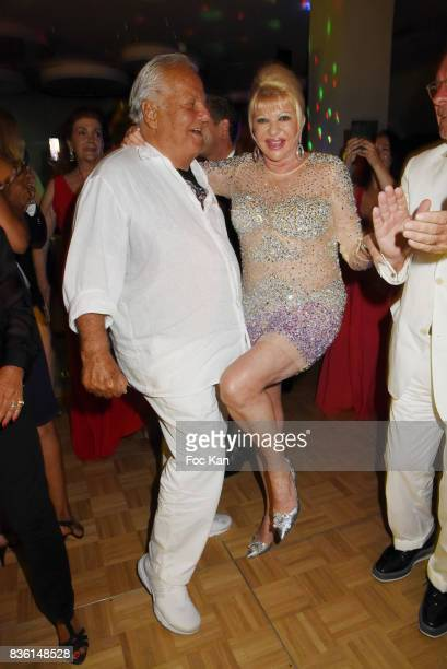 Massimo Gargia and Ivana Trump attend the Massimo Birthday Party at Hotel de Paris As Part of SaintTropez Party On French Riviera on August 20 2017...