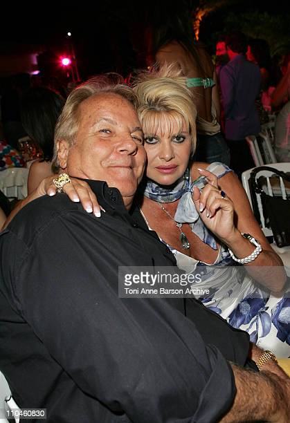 Massimo Gargia and Ivana Trump during 'ASMALLWORLD' 2nd Anniversary Party in SaintTropez July 22 2006 at Private Residence in SaintTropez France