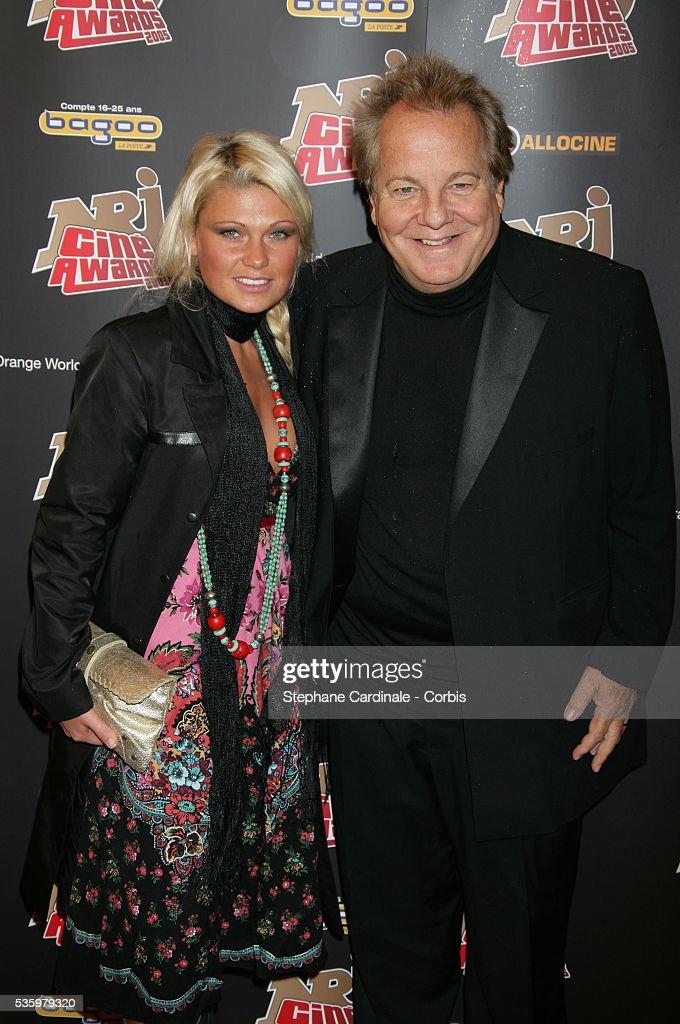 Massimo Gargia and Joanna attend the NRJ Cine Awards.
