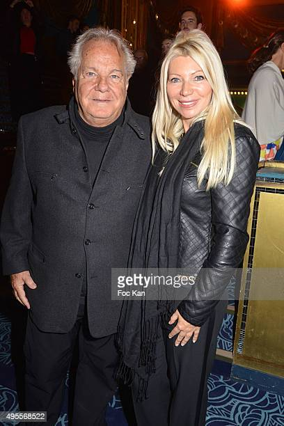 Massimo Gargia and Nadine Rodd attend the 'Belcanto' The Luciano Pavarotti Heritage Premiere at Folies Bergere on November 3 2015 in Paris France