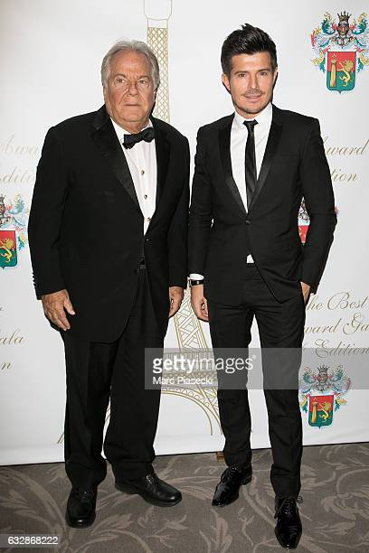 Massimo Gargia and singer Vincent Niclo attend 'The Best Award Gala 40th Edition' at Four Seasons George V hotel on January 27 2017 in Paris France