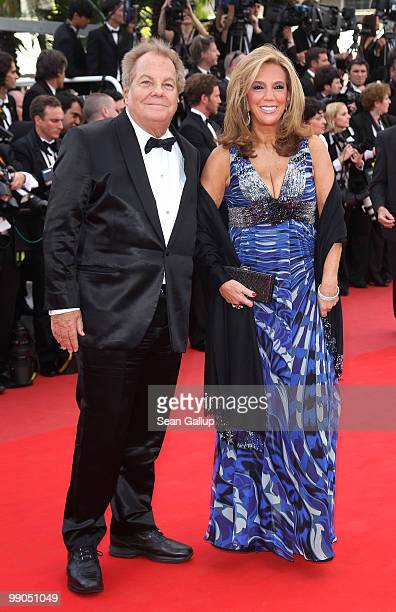 Massimo Gargia and songwriter Denise Rich attend the 'Robin Hood' Premiere at the Palais des Festivals during the 63rd Annual Cannes Film Festival on...