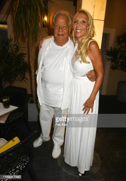 Massimo Gargia and Sylvie Elias Marshall attend the Massimo Gargia Birthday Party at Hotel de Paris in Saint Tropez on August 20 2019 in SaintTropez...