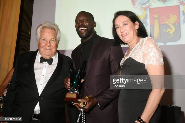 Massimo Gargia Best 2019 award winning runner Ladji Doucouré and Tania de Bourbon Parme attend the 43rd Best Awards Edition At Cercle Interallie on...