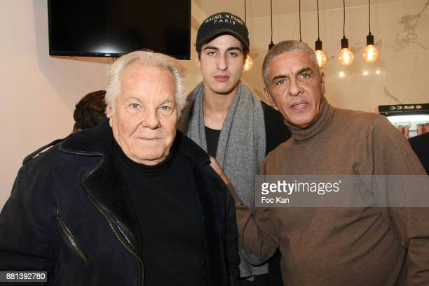 Massimo Gargia Julian Naceri and Samy Naceri attend 'Bagel N Fries' Restaurant Opening Party on November 28 2017 in Paris France