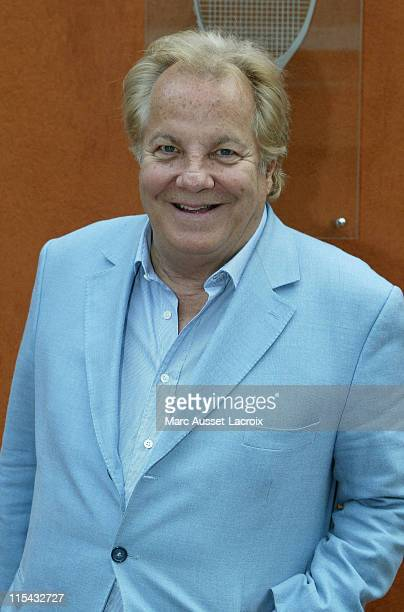 Massimo Gargia poses in the 'Village' the VIP area of the French Open at Roland Garros arena in Paris France on June 3 2007