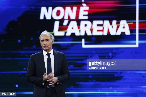 Massimo Giletti attends the Non E' L'Arena at Ex De Paolis Studios on February 11 2018 in Rome Italy