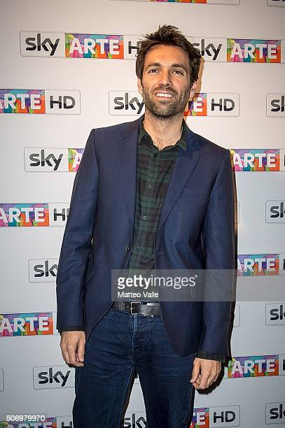 Massimo Giorgetti attends a photocall for Franco Battiato concert for Sky Arte at HangarBicocca on January 26 2016 in Milan Italy