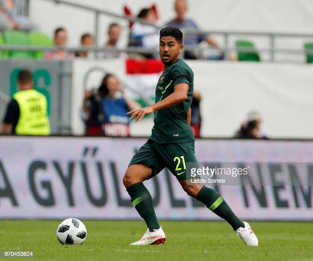 Massimo Luongo of Australia controls the ball during the International Friendly match between Hungary and Australia at Groupama Arena on June 9 2018...
