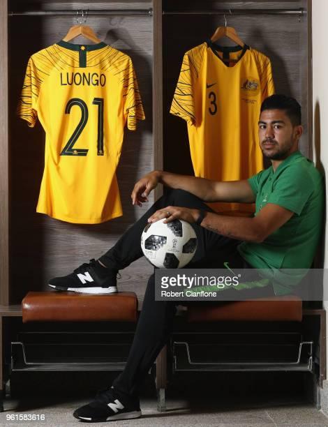 Massimo Luongo of Australia poses during the Australian Socceroos Media Opportunity at the Gloria Football Club on May 23 2018 in Antalya Turkey