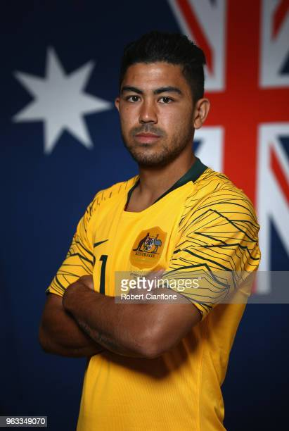 Massimo Luongo of Australia poses during the Australian Socceroos Portrait Session at the Gloria Football Club on May 28 2018 in Antalya Turkey