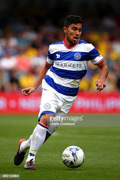 Massimo Luongo of QPR during the pre season friendly match between Queens Park Rangers and Watford at Loftus Road on July 30 2016 in London England