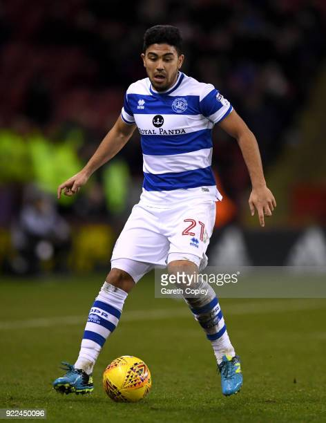 Massimo Luongo of QPR during the Sky Bet Championship match between Sheffield United and Queens Park Rangers at Bramall Lane on February 20 2018 in...