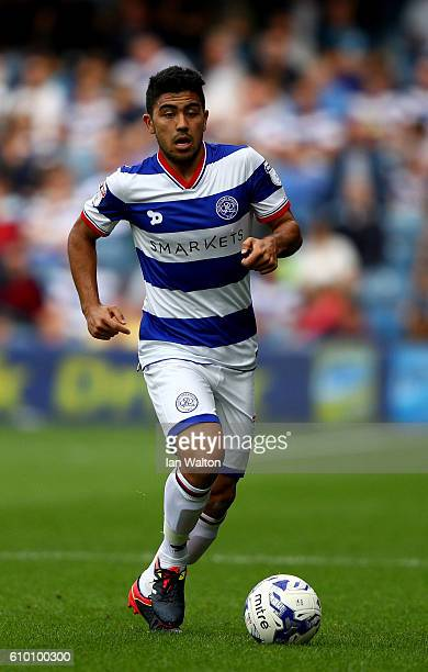 Massimo Luongo of QPR in action during the Sky Bet Championship match between Queens Park Rangers and Birmingham City at Loftus Road on September 24...