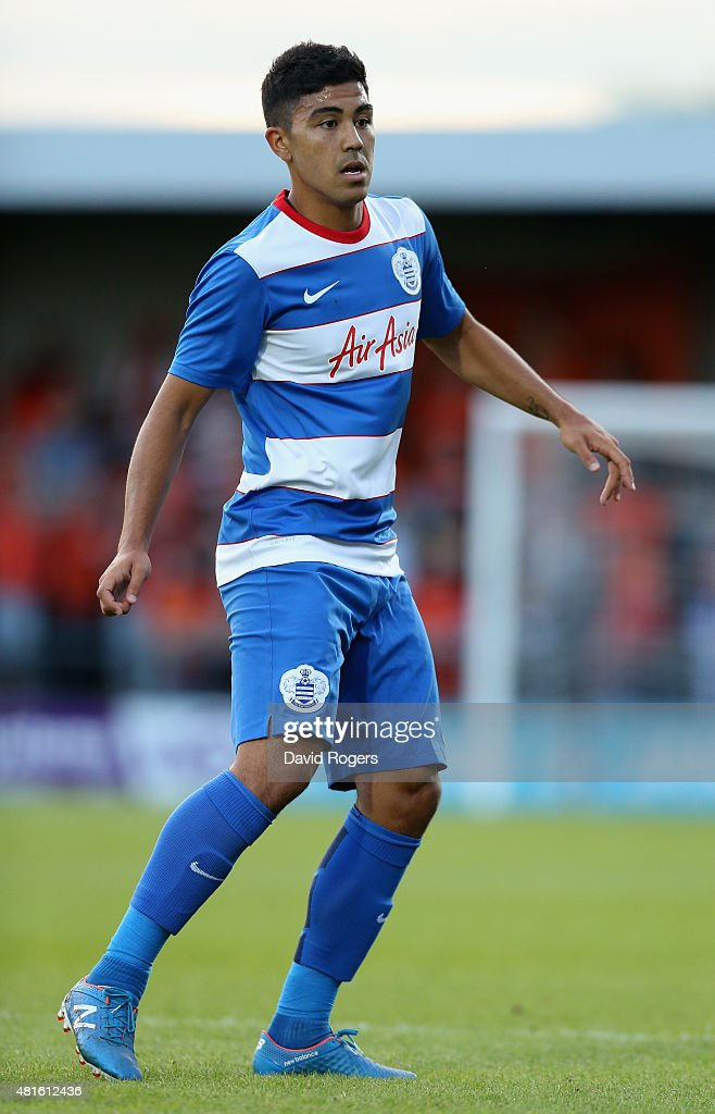 Massimo Luongo of QPR looks on during the pre season friendly match between Queens Park Rangers and Dundee United at The Hive on July 22, 2015 in Barnet, England.