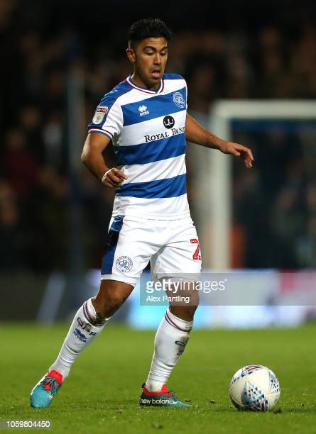 Massimo Luongo of QPR runs with the ball during the Sky Bet Championship match between Queens Park Rangers and Aston Villa at Loftus Road on October...