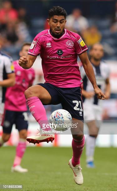 Massimo Luongo of Queens Park Rangers controls the ball during the Sky Bet Championship match between West Bromwich Albion and Queens Park Rangers at...