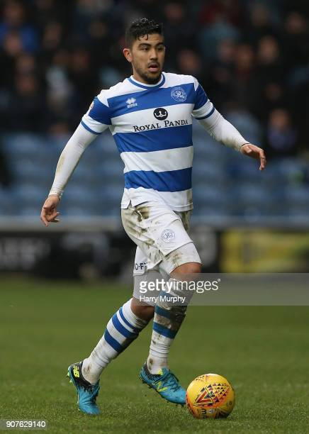 Massimo Luongo of Queens Park Rangers in action during the Sky Bet Championship match between Queens Park Rangers and Middlesbrough at Loftus Road on...