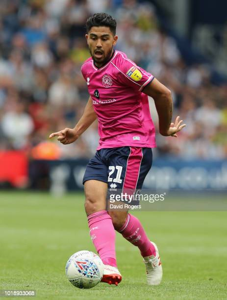 Massimo Luongo of Queens Park Rangers passes the ball during the Sky Bet Championship match between West Bromwich Albion and Queens Park Rangers at...