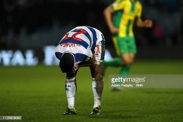 Massimo Luongo of Queens Park Rangers reacts at the final whistle having lost 23 during the Sky Bet Championship match between Queens Park Rangers...