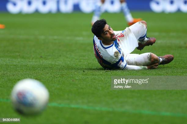 Massimo Luongo of Queens Park Rangers watches the ball go out of play during the Sky Bet Championship match between Hull City and Queens Park Rangers...