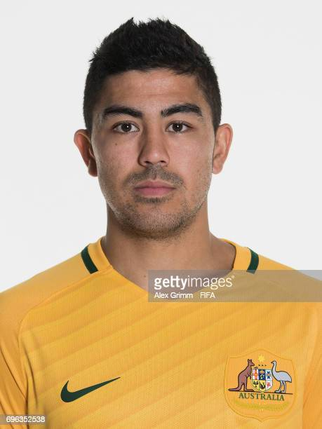 Massimo Luongo poses for a picture during the Australia team portrait session on June 15 2017 in Sochi Russia